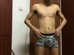 Abs Twink Shoots A Load