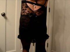 crossdresser lace lingerie satin panty
