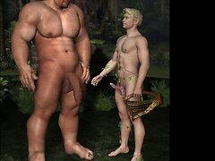 3D Dominant Men Fuck Straight Muscle Boys!