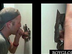 Straight guy gives gay BJ on gloryhole