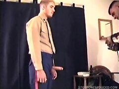 Vinnie Gives Straight Soldier A Blowjob
